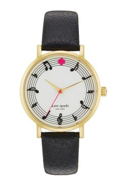 'metro - music note' leather strap watch, 34mm at Nordstrom.com. Hit the right note with this delightful round watch detailed with a stylized dial and a textured leather strap.
