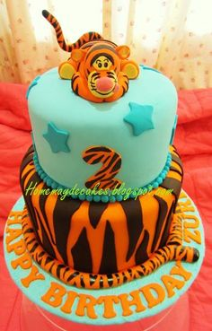 Home May'de Cakes: The Making: Tigger Birthday Cake