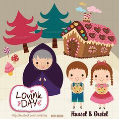 Hansel and Gretel Clip Art Set D13003 by LovinkDay on Etsy, $7.00
