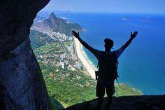 View from the summit of Pedra da Gavea   Live like a local in Rio de Janeiro   Weather2Travel.com #travel #Brazil #SouthAmerica #Rio