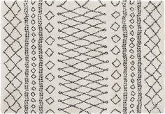Freda Rug 120 x 170cm, Off White from Made.com. NEW Express delivery. Conjuring up Moroccan vibes, this Berber-style rug has a bold, distinctive pat..
