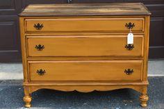 Rustic Orange Dresser