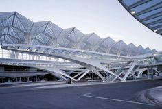 Santiago Calatrava's Oriente Station in Lisbon, Portugal. (Courtesy Santiago Calatrava)