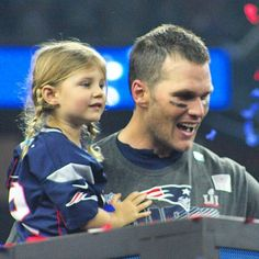 Tom Brady and his daughter Vivian after #SuperBowlLI