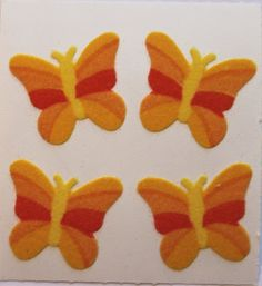 80s sandylion fuzzy butterfly stickers