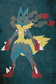 Mega Lucario By JHTY23 Dog Pokemon Games Comics Poster