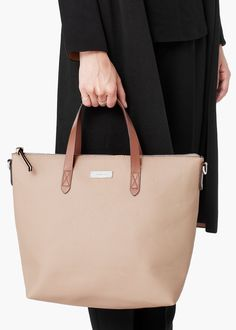 Zipped pebbled bag