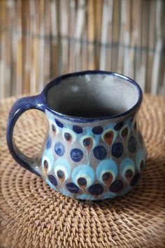 A 15 oz. Guatemalan Mug for that BIG cup of coffee with a great handle and solid feel. Wrap your hands around the perfect shape of this large coffee mug, warming your hands and feeling the texture of