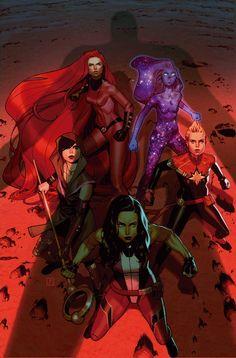 A-FORCE #4 || Captain Marvel, She-Hulk, Medusa, Nico Minoru, Singularity
