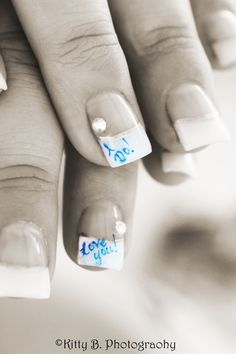 Wedding nail design by Anna Christina's Nailz #Weddingnail