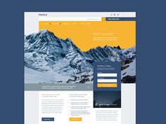 Pretty excited to release a new free PSD after sometime! I miss doing this! 'Profile' is a unique corporate website with a twist. Download the fully layered Photoshop PSD file and use commercially....