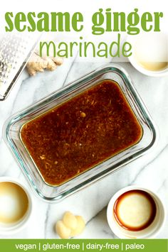 This paleo sesame ginger lime marinade is both savory and sweet. With delicious toasted sesame and ginger, this is the best marinade for chicken or tofu. Asian Marinade For Chicken, Tofu Marinade, Shrimp Marinade, Chicken Marinade Recipes, Ginger Chicken, Chicken Marinades, Lime Chicken, Tofu Recipes, Whole Food Recipes