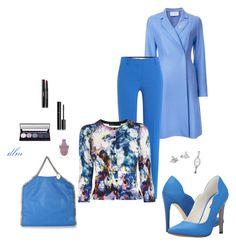 """Blue"" by dmiddleton ❤ liked on Polyvore featuring Harris Wharf London, Emilio Pucci, Karen Millen, Michael Antonio, STELLA McCARTNEY, Chupi, DKNY, John Lewis and Chanel"