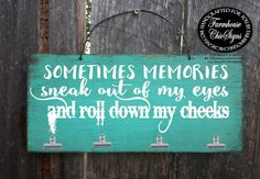 in memory of memory holder in memory of mom by FarmhouseChicSigns In Memory Of Dad, In Loving Memory, Memorial Gifts, Memorial Ideas, Memorial Messages, Memorial Jewelry, Distressed Wood Signs, 1 Tattoo, Tattoo Quotes