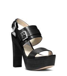 Michael Kors | Beatrice Leather Platform Sandal | $175
