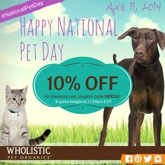 Happy National Pet Day! Take advantage of this great offer to get your senior pet that joint support they need. Ends tonight at 11:59pm EST