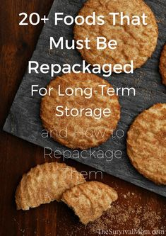 Foods that must be re-packaged for long-term storage and how to repackage them - Survival Mom Grocery store food needs to be repackaged. Here are tips for long term storage food. Survival Food, Survival Prepping, Survival Supplies, Survival Skills, Survival Hacks, Prepper Food, Survival Shelter, Survival Stuff, Survival Equipment