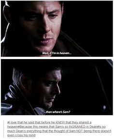 Shared by Eeios. Find images and videos about supernatural, dean winchester and sam winchester on We Heart It - the app to get lost in what you love. Winchester Brothers, Dean Winchester, Supernatural Memes, Destiel, Johnlock, Super Natural, Family Business, Superwholock, Best Shows Ever