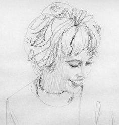 Anna Lee Fuchs portrait by Bernie Fuchs