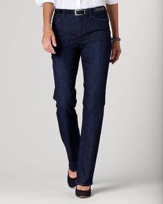Denim mini bootcut jeans