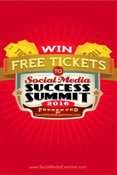 Want to win a free ticket to the largest online social media marketing event of the year?  Social Media Examiner has worked hard to bring you our eighth-annual Social Media Success Summit. This is our best event ever!  And we've come up with a fun way for you to get involved. Via @smexaminer.