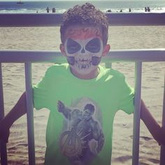Santa Cruz CA: Had a fun time with this scary guy at the beach today  by jela2730