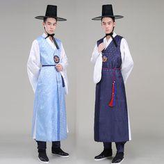 Korean ethnic minority portrait show clothing court uniforms costume gowns Korean traditional men's clothing