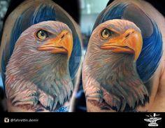 Eagle portrait for Turkish artist Tamer Karadagli by FahrettinDemir on DeviantArt