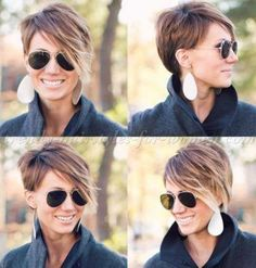 like the fall color Pixie Cuts with Fringe-12