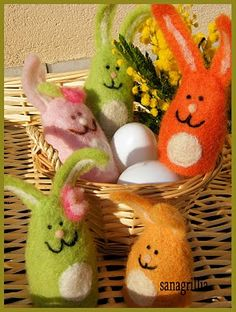 easter  colorated bunnies