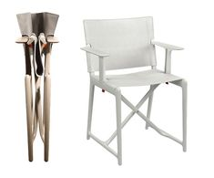 Skládací židle Magis Stanley   Stockist Outdoor Chairs, Outdoor Furniture, Outdoor Decor, Philippe Starck, Design, Home Decor, Decoration Home, Room Decor, Garden Chairs