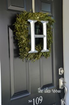 Initial Wreath DIY instructions via Amy Huntley (The Idea Room) can't wait to do this for Christmas then it stay up all winter ...yes love DIY