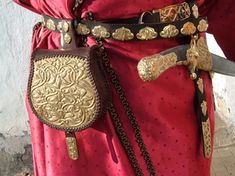 Belt Pouch, Pouch Bag, Leather Pouch, Leather Purses, Ottonian, Medieval Belt, Medieval Crafts, Iron Age, Dark Ages