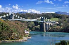 Menai Bridge - Telford's Bridge. Must be one of the best views in the UK. Be sure to drive down under the arches on a nice still evening!