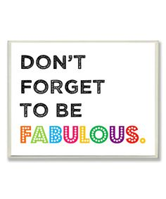 Look at this 'Fabulous' Wall Art on #zulily today!