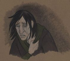 Severus. Here's an interesting one. He isn't as pretty as so many drawings make him seem. Not that I mind those drawings, but it's nice having different styles of one character.