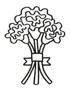 17 wedding coloring pages for kids who love to dream about their big day wedding bouquet 6