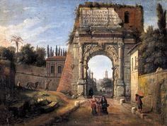 Caspar van Wittel View of the arch of Titus in Rome