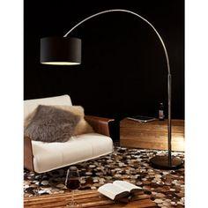 SalesFever Bogenlampe schwarz groß »Alumi«