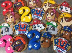 Paw Patrol Birthday Party Sugar Cookies TheIcedSugarCookie.com Tale Cookies