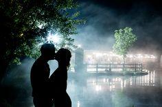 Somerset Wedding Photographer Bristol | Yarlington Barn silhouette kiss | Kerry Bartlett Photography