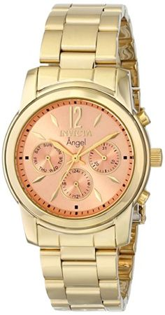 Invicta Women's 0464 Angel Collection 18k Gold-Plated Stainless Steel Watch Invicta http://www.amazon.com/dp/B004DKN5AA/ref=cm_sw_r_pi_dp_UWi4tb0PK37QR2DD