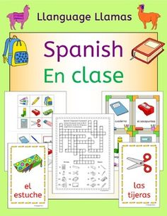 48 pages of fun Spanish resources to teach classroom vocabulary. Great for a 'back to school' topicThis set includes:* Suggestions for use in the classroom.* Write around the room - 16 half page pictures to hide around the room and two different styles of worksheet (one interactive notebook style, the other single sheet) for the students to complete as they find the words.
