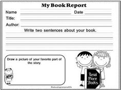 BOOK REPORTS FOR PRIMARY STUDENTS -  A Great Resource To Help Students Organize Their Book Reports.  This activity book includes story elements : Characters, Setting, Main Idea, and more