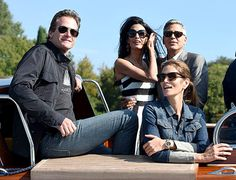 Rande Gerber, George Clooney, Amal Alamuddin and Cindy Crawford