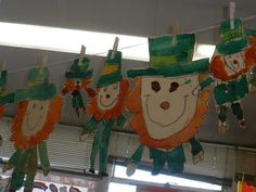Leprechaun art project, so cute!