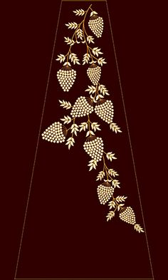 Ideas Wallpaper Red Phone Colour For 2019 Saree Embroidery Design, Border Embroidery Designs, Zardozi Embroidery, Pearl Embroidery, Hand Embroidery Flowers, Bead Embroidery Patterns, Hand Work Embroidery, Couture Embroidery, Embroidery Fashion