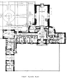 Mary Pickford & Douglas Fairbanks home Pickfair First Floor Plan