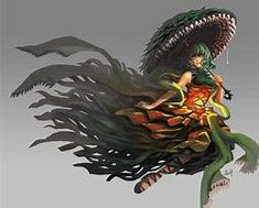 Godzilla Comics, Godzilla Vs, Female Monster, Monster Girl, Fantasy Races, Fantasy Art, Alien Races, Demon Girl, King Kong