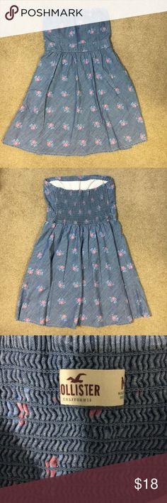 Hollister strapless dress Like new strapless dress from hollister Hollister Dresses Strapless